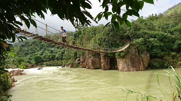 Hanging Bridge Below